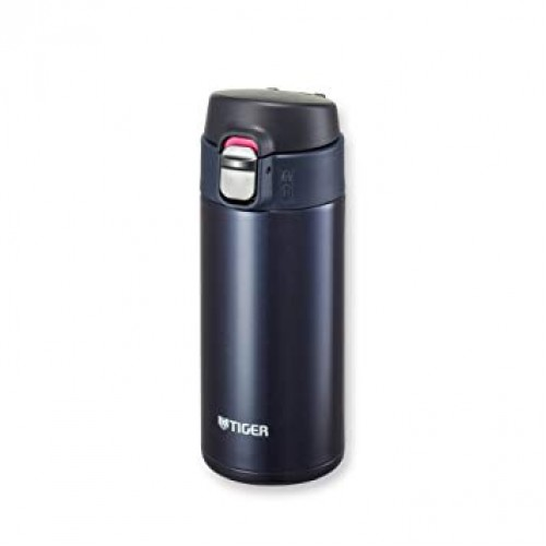 ULTRA LIGHT STAINLESS STEEL THERMAL BOTTLE WITH ONE PUSH OPEN 0.36L BLUE BLACK