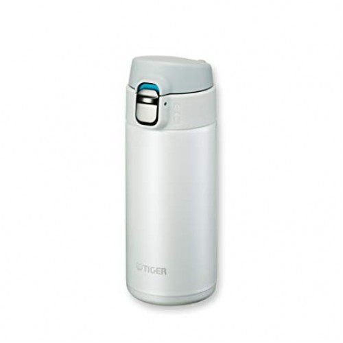 ULTRA LIGHT STAINLESS STEEL THERMAL BOTTLE WITH ONE PUSH OPEN 0.36L SNOW WHITE