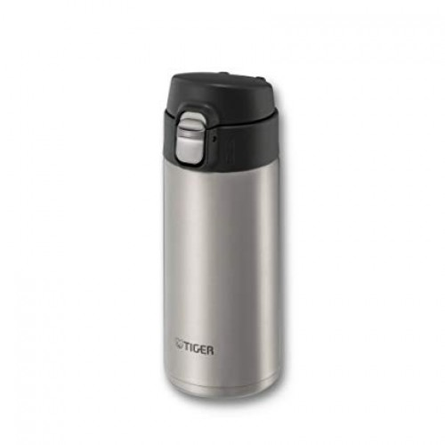 ULTRA LIGHT STAINLESS STEEL THERMAL BOTTLE WITH ONE PUSH OPEN 0.36L CLEAR STAINLESS