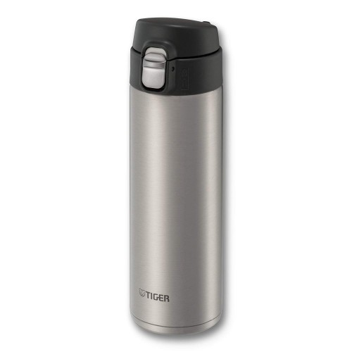 ULTRA LIGHT STAINLESS STEEL THERMAL BOTTLE WITH ONE PUSH OPEN 0.48L CLEAR STAINLESS