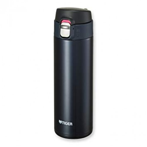 ULTRA LIGHT STAINLESS STEEL THERMAL BOTTLE WITH ONE PUSH OPEN 0.48L BLUE BLACK