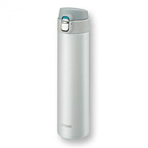 ULTRA LIGHT STAINLESS STEEL THERMAL BOTTLE WITH ONE PUSH OPEN 0.60L SNOW WHITE