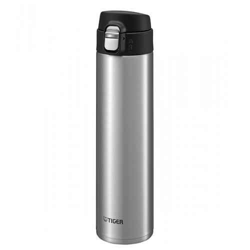 ULTRA LIGHT STAINLESS STEEL THERMAL BOTTLE WITH ONE PUSH OPEN 0.60L CLEAR STAINLESS