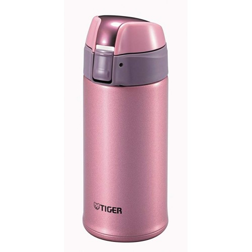 STAINLESS STEEL THERMAL BOTTLE WITH ONE PUSH OPEN 0.35L BRIGHT PINK