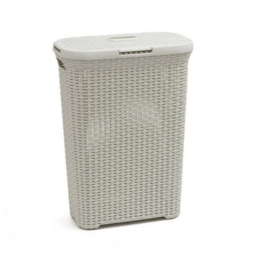 40L Rect - Style Hamper White
