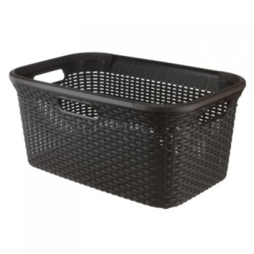 45L Rect - Style Hamper Basket Dark Gray