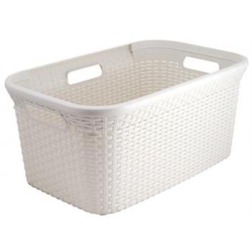 45L Rect - Style Hamper Basket White