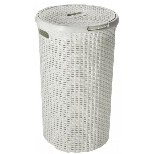 48L Round - Style Hamper White