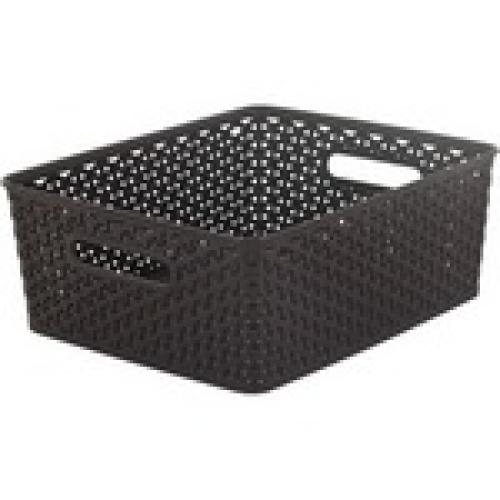 Basket with Handle 13L black -Medium