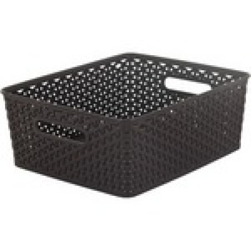 Basket with Handle 18L Black - Medium