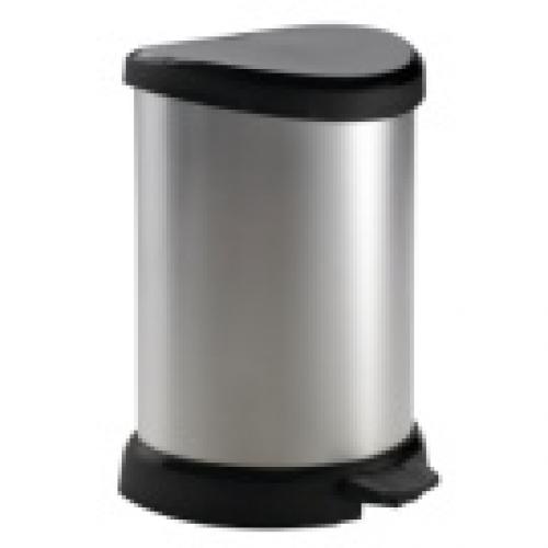 Deco Bin Pedal -20L Silver