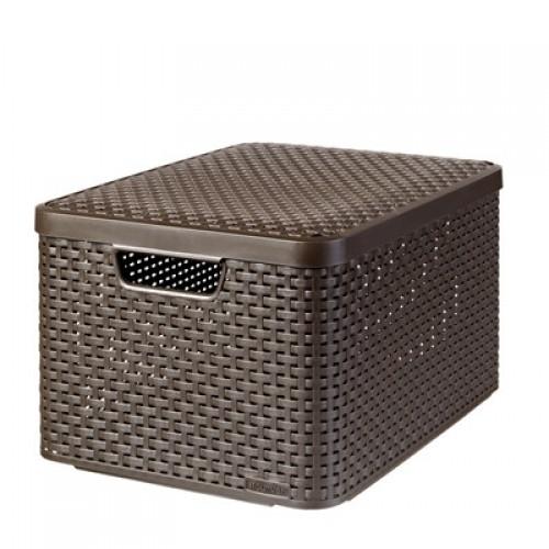 Style Box Small V2 + W/o Lid Dark Brown