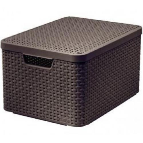 Style Box Large  V2 + Lid Dark  Brown