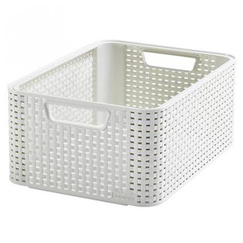Style Box Medium V2 + W/o Lid White