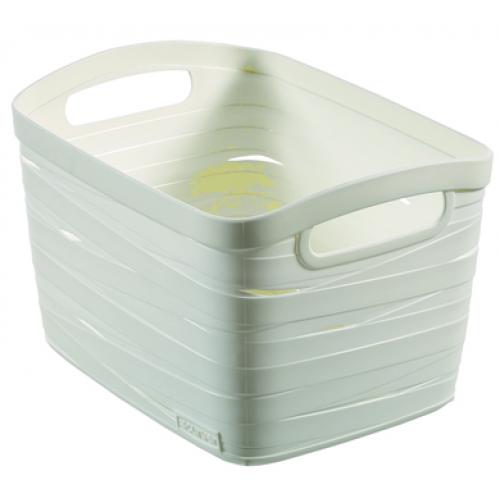 Ribbon Basket 20L Large  White