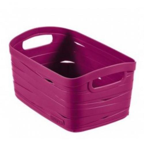 Ribbon Basket 8L Small  Aubergine