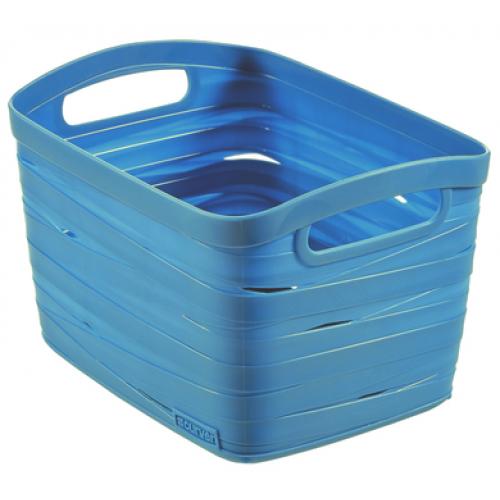 Ribbon Basket 8L Small  Blue