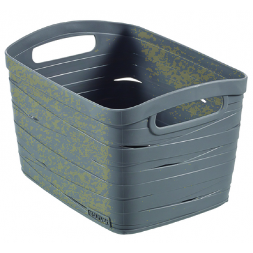 Ribbon Basket 8L Small  Gray