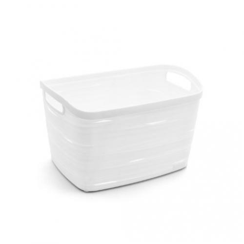 Ribbon Basket 8L Small  White