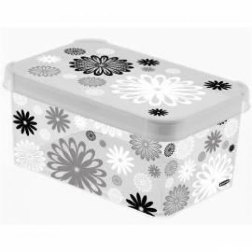Stockholm Deco Box - Medium Black Daisy