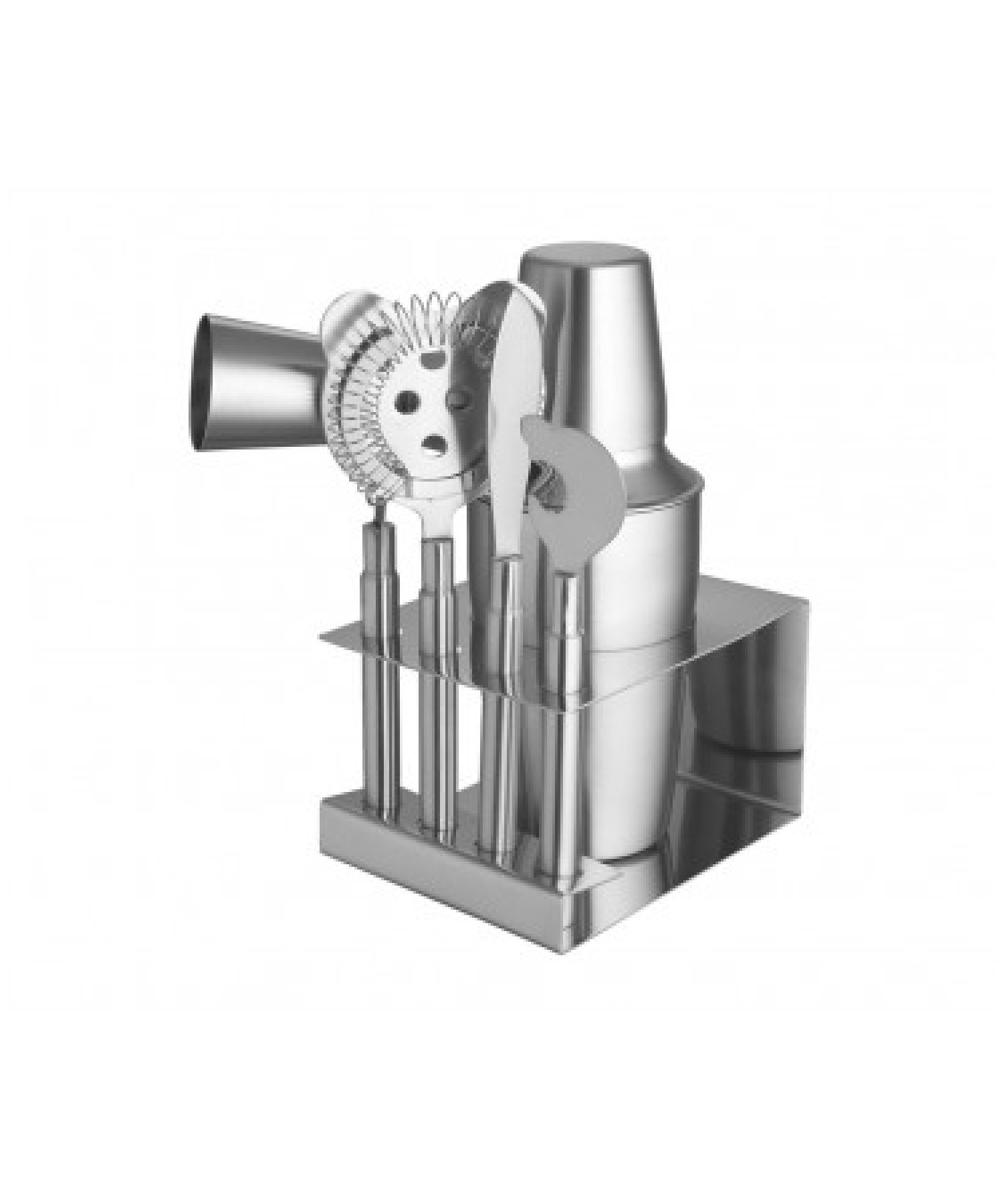 BAR ACCESSORIES (SET OF 5) WITH COCKTAIL SHAKER