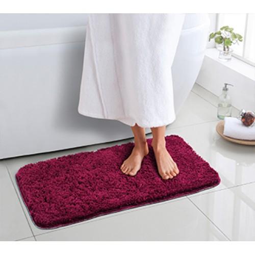 Ultra Soft Microfiber BathMat WINE RED 40x60 cm