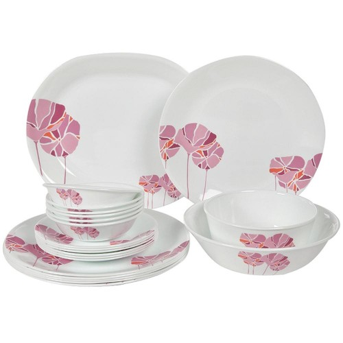 Pink Lotus 21pcs Dinner Set
