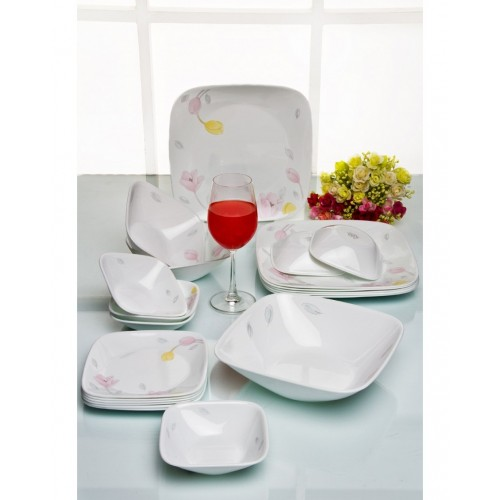 Elegant City Square 21pcs Dinner Set