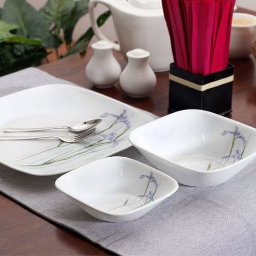 Shadow Iris Square 21pcs Dinner Set