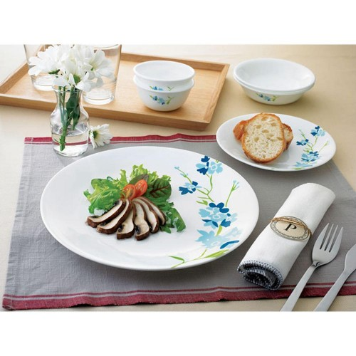 Blossom Blue 21pcs Dinner Set