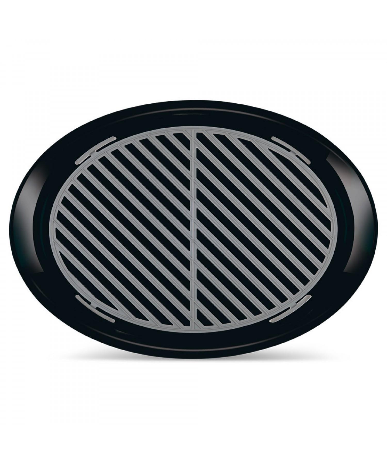 ANTI-SLIP TRAY BLACK OVAL MEDIUM
