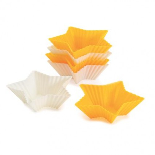 SILICONE STAR MUFFIN MOULD 6 PCS
