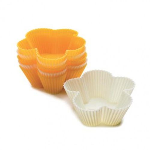 SILICONE FLOWER MUFFIN MOULD 6 PCS