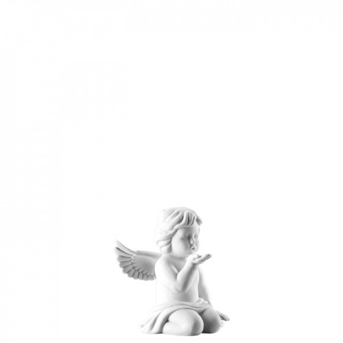 Angel kissing hand small White-mat
