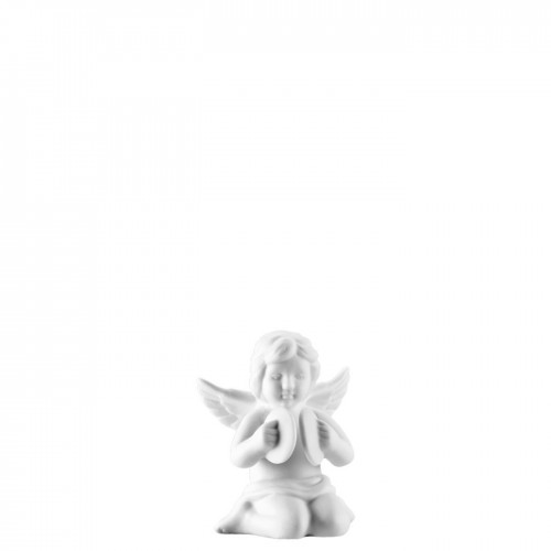 Angel with cymbal small White-mat
