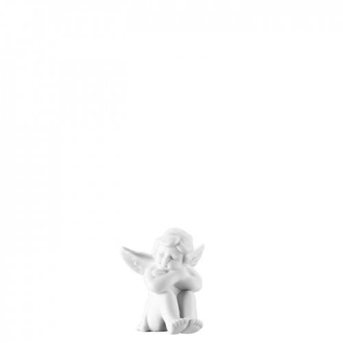 Angel sitting small White-mat