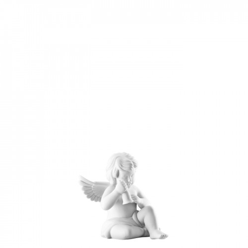 Angel with bell small White-mat