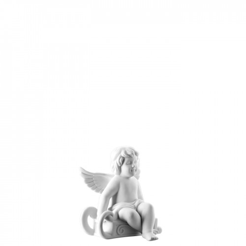 Angel with sleigh small White-mat