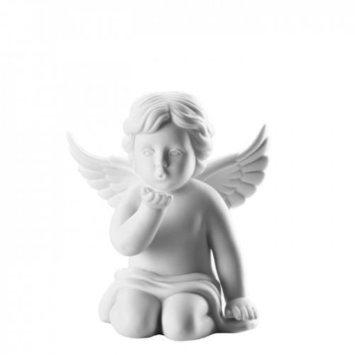 Angel kissing hand middle White-mat