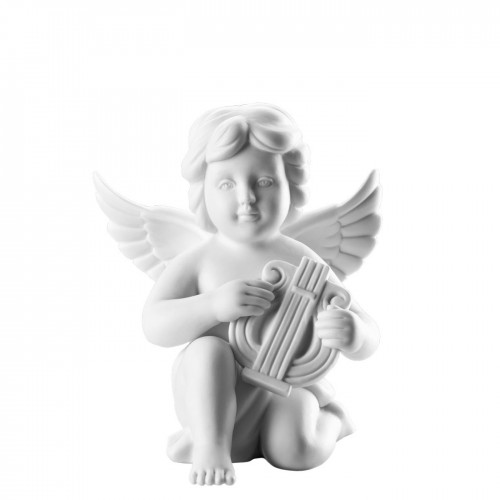 Angel with lyre middle White-mat