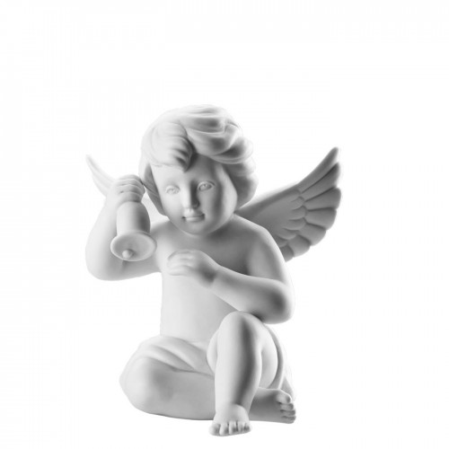 Angel with bell middle White-mat