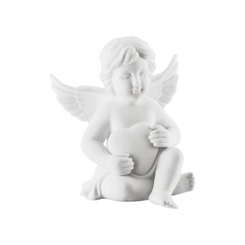 Angel with heart middle White-mat