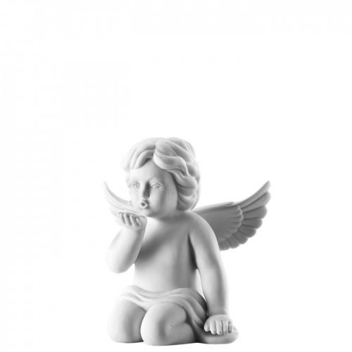 Angel kissing hand big White-mat
