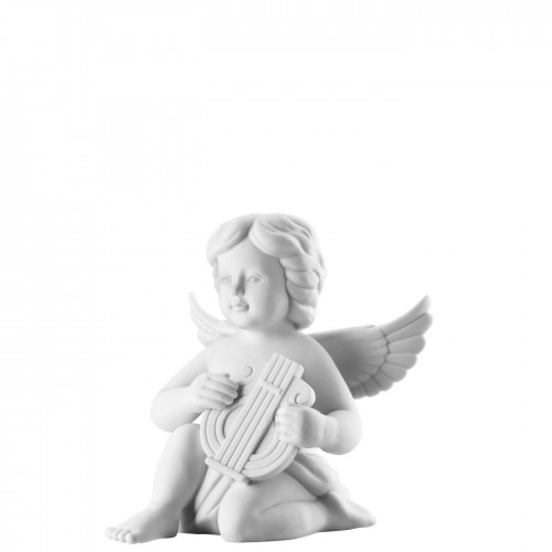 Angel with lyre big White-mat