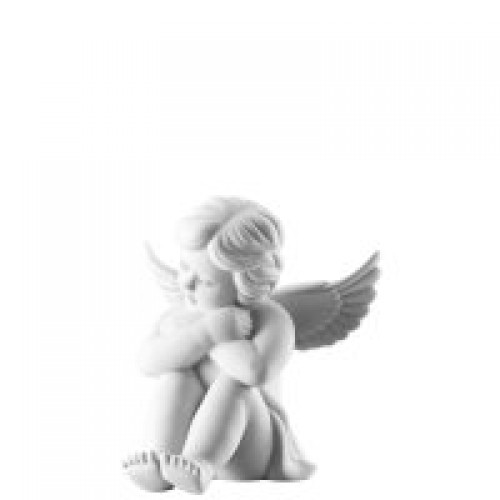 Angel sitting big White-mat