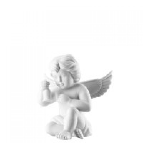 Angel with bell big White-mat