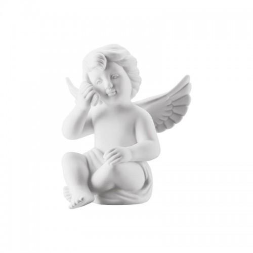 Angel w. smartphone big White-mat