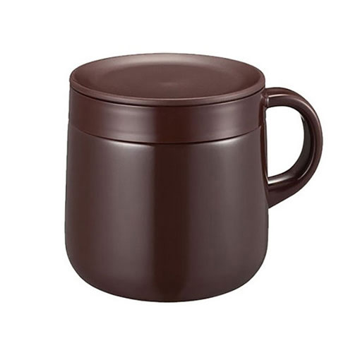 STAINLESS STEEL THERMAL MUG 0.28L COCOA