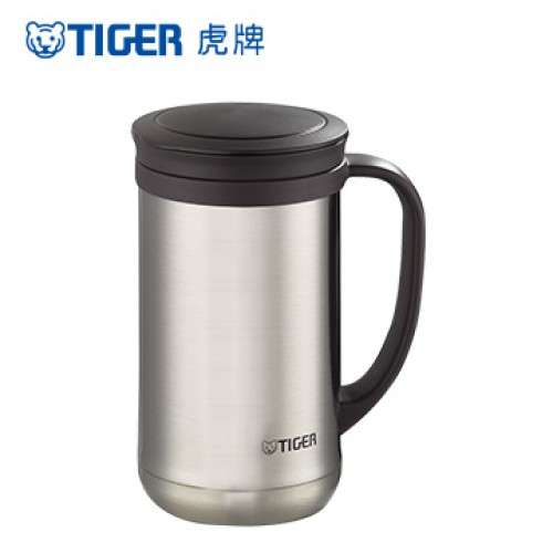 STAINLESS STEEL THERMAL MUG 0.5L CLEAR STAINLESS